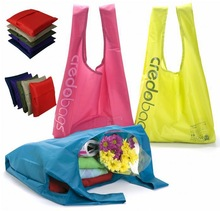 Designer Fashion Polyester Tote Bag Foldable with Separated Pouch