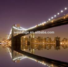 2015 beautiful LED City landscape painting