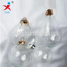 Clear Glass Christmas Balls