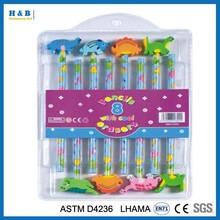 8pcs for students animal shape eraser