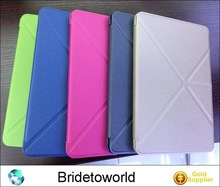 High quality leather case for iPad 2 stand cover protective skin