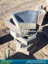 carving basalt garden stone birdbath