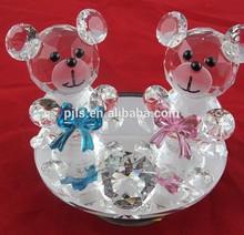 Love heart crystal teddy bear for wedding gift