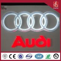 Thermoforming & vacuum coating car logo 3d / custom made car emblems