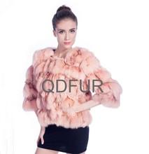 2014 caldo- vendita naturale giacca di pelliccia di volpe cappotto indumento a80137 maglia cappotti di pelliccia di visone