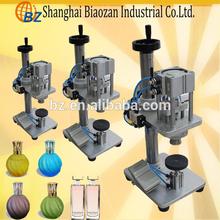 Pneumatic perfume capping machine,Semi-automatic perfume bottle crimper machine