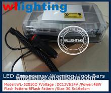colorful Suction top LED Lightbar /new design/waterproof led warning light mini light bar