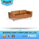 simple itlay cow leather latest design sofa set f805