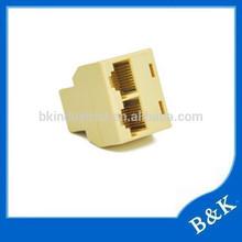 best selling rj45 plug acoplador divisor fornecedor