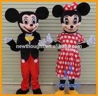 Mickey and minnie mascot costume