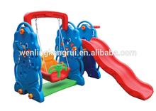 plastic slide and swing set for children