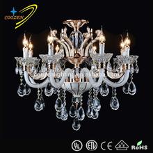 zinc alloy crystal chandelier modern candele chandelier lighting,large crystal chandeliers for hotels GZ40205-8P