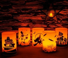 "4*6"" Halloween LED candles"