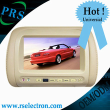HIgh quality universal car headrest monitor with DVD player USB SD slot