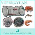 redonda de aço da mola dobrável peixes camarão caranguejo gaiola armadilha para venda