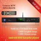 Android Lemon KTV player with HD 1080P ,Support MKV/VOB/DAT/AVI/MPG songs ,Multilingual MENU