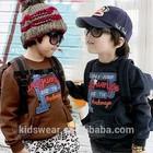 Wt-1215 wholesale fashion children spring child clothes kids clothing boys Korean cheap baby cute fleece long sweater coat coats