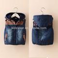 Wt-3487 venta al por mayor moda invierno de los niños ropa de niños ropa niños de los muchachos de las muchachas de corea , además de terciopelo grueso del dril de algodón del chaleco del chaleco
