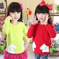 My-0030 atacado moda outono crianças roupa infantil vestuário miúdos meninas coreano novo bebê muito- mangas camisolas camisola de lã da