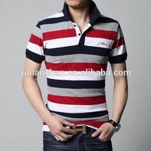 fashion striped cotton polo tshirt , polo t-shirt with horse , mens polo tshirts