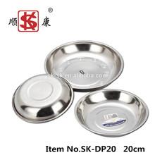 Wholesale Tableware Stainless Steel Buffet Tray/ Dinner Plate/Food Plate