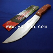 YHD001 High quality wooden handle kitchen butcher slaughtering knife