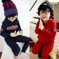 Wholesale2014 queda e roupas de inverno novo alfabeto coreano meninos roupas crianças calças compridas terno do bebê menino roupa da boneca