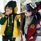Wt-0780 wholesale fashion children winter child clothes kids clothing Boys Korean new badge hooded cotton vest coat down jacket
