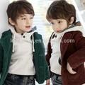 Wt-0004 crianças atacado de moda outono criança crianças roupas vestuário das meninas dos meninos coreano nova bonito jaqueta de veludo Blazer
