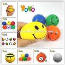 YOYO PU001 Customized Logo Promotion Smiley PU Stress Balls/Anti Stress Balls/Stress Balls