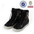 china fábrica mais recente design barato preto botas militares e calçados femininos