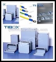 IP66 brushed aluminum box for electrical industry, TIBOX, Zhejiang province