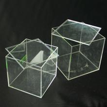 Transparent acrylic display box plexiglass cube box with clear plastic lid