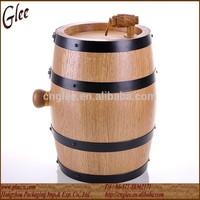 wooden used oak barrel for wine burned inside