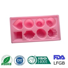 Good quality cute heart&flower shape silicone cake mould