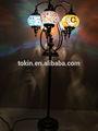 2015 desigh nueva estambul de artesanía de arte del mosaico de lujo turco lámparas pie( fl05m02)