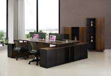 High Fashion Executive Desk For 4 Person/Wooden office desk with cabinet/LT03A