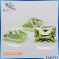 facetas atacado gemas zircão sintético maçã verde princess cut gem nomes