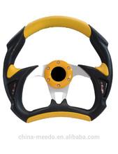 Hot Sale Universal Auto Accessories PU/PVC 320mm/13inch OEM Modified F1 Racing Car Steering Wheels in Villa,Community,Park,Hotel