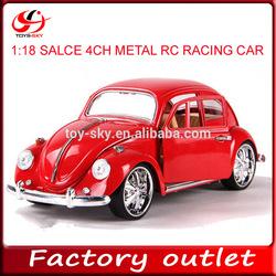 singapore hot sale toy 1:18 scale 4ch die cast RC racing car wholesale diecast cars