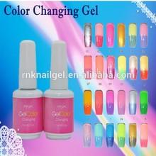 wholesaler nail polish RNK temperature change nail polish changing color glitter uv gel nail polish oem