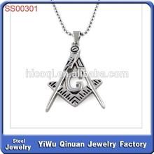 2014 trendy fashion new design custom arrowhead pendant fashion stainless steel jewelry