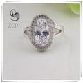 China wholesale pave anel de zircão, cristal de diamante pavimentar 925 anel de prata da jóia da forma