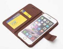Vintage leather wallet case for iphone 6 vintage leather case