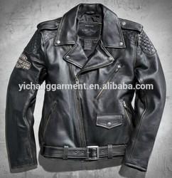 Men's Black Vintage Leather Biker Jacket