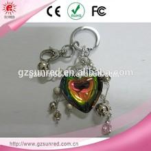 Fashion High Quality Wholesale heart shape metal key chain