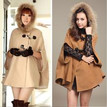 con capucha chal de lana poncho cabo la mujer escudo chaqueta manto