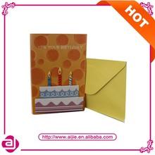 3dบัตรอวยพรวันเกิดที่ทำด้วยมือการออกแบบ