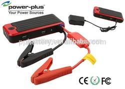 Push button 12V car jump starter power bank,emergency road kit