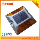 red 123*133*75mm aluminum reflective solar road stud